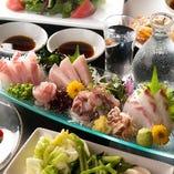 【冬】地魚のカルパッチョが味わえる 2.5H飲み放題付 6品 4,000円