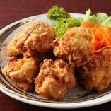 鳥取県産 大山鶏の唐揚。柔らかさとジューシーさがやみつき