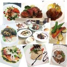 (記念日にお勧め、淡路島産食材を使用した)スペシャルディナーコース4700円(税抜き)