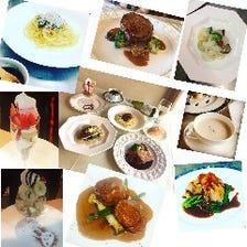 淡路島産野菜を使用したお魚・お肉メインが選べるランチコース(プティポワランチA)1573円(税抜き)