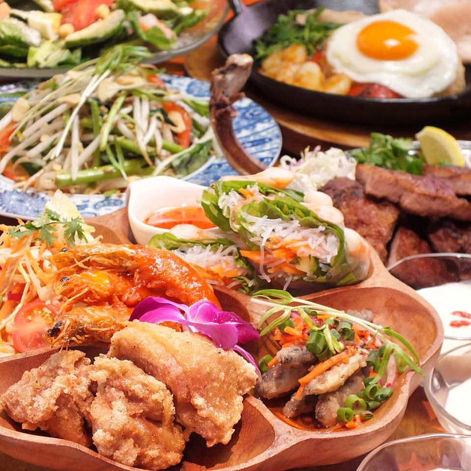 ★当店自慢の料理を盛り込んだ『アジアンリゾートコース』
