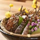 当店のおすすめの海老料理!刺身や焼き物でご堪能ください。