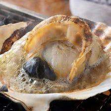 【名物!浜焼き】 卓上でグツグツ、香り立つ磯の匂いに食欲がそそられます!