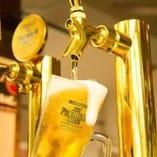 【1】当店のビールはすべてのコースがプレミアムモルツ~♪