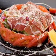 生ハムとトマトの彩り野菜