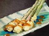 【谷中生姜の天ぷら】 清涼感のある美味しさ!!