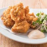 ■若鶏の唐揚げ 明太マヨ添え