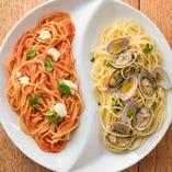 ■モッツァレラとバジルのトマト&ボンゴレビアンコ