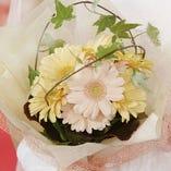 花束をご用意いたします。