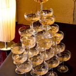 貸切の+もう1つの特典 シャンパンタワー