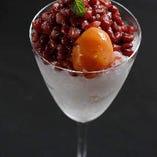 金柑と小豆のフローズンアイス
