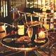 テラス席でワインで乾杯