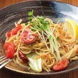 アンチョビと野菜のペペロンチーノ
