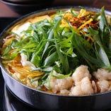 大阪の味と博多の味が絶妙に融合した、いっぱちのもつ鍋を堪能!