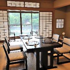 宇治川の四季を望むプライベート空間