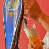 [Tigerの生ビール] タイガービールの生ビールが楽しめます♪