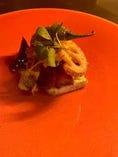 山田湾産牡蠣のムニエル 磯香るホタテ貝のムース ソースオランデーズ