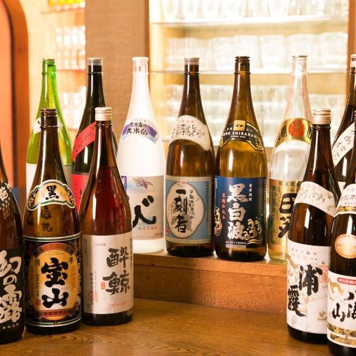 豊富に取りそろえた自慢の日本酒