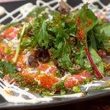 【鮮度抜群】 その日に仕入れた鮮魚で仕立てるカルパッチョ