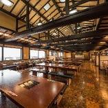レストランの窓からは京都市内を一望できます