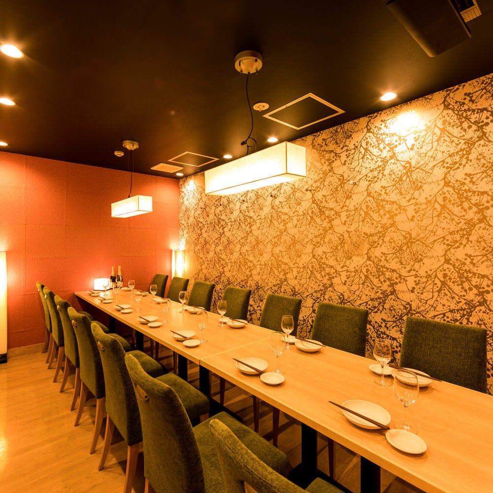 テーブル席・完全個室(壁・扉あり)・13名様~20名様