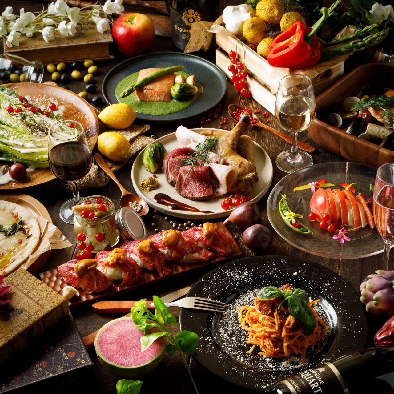 自家製ローストビーフを使用した料理の数々をご堪能下さい。