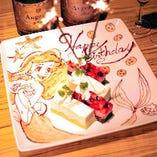誕生日や記念日にはデザートプレートでお祝いに華を添えて♪