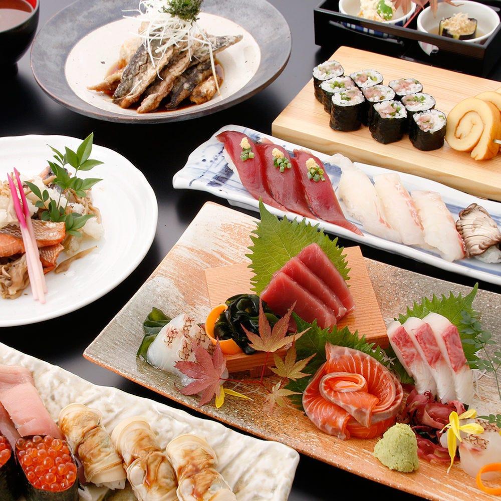 【ぐるなび限定】《大潮コース》刺身、焼き物、揚げ物、蒸し物 飲み放題付き5,500円コース 2名様~