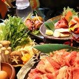 近江屋自慢のコース料理。『近江牛のお寿司』など!