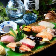 長年の経験と目利きが冴える握り寿司