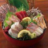九州産鮮魚入り刺身5点盛り