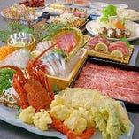 西郷どんコース イセエビの天ぷらなど薩摩の味覚を盛り込んだ充実のコース