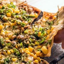 八丁味噌とモッツァレラの湯葉ピザ