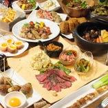 《GoToEat対象》【120分飲放題(L.O.90分)】野菜肉巻きスタンダードコース 全24品 4,400(税込)