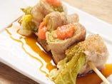 白菜と明太子の豚巻き