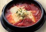 トマトチーズキムチ定食