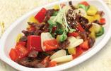 砂肝と野菜炒め