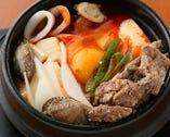牛スジ純豆腐チゲ定食