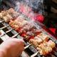 備長炭で焼き、素材の旨みが凝縮された 人気の串焼き