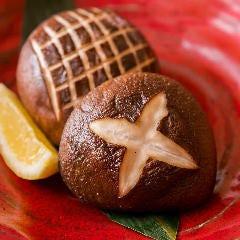 どんこしいたけの炭火焼(栃木県しおのやの肉厚しいたけ)