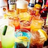 60種以上の飲み放題は、アルコール好きもノンアルな方も大満足♪
