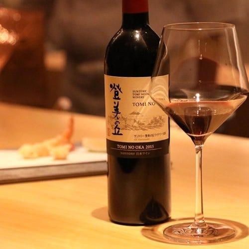 新たな組み合わせ天ぷらにワイン