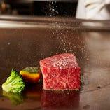 記念日にA5&A4ランク黒毛和牛のとろける旨みを鉄板焼ステーキで