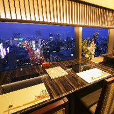 ビル最上階から大阪の街並みを楽しむ