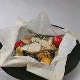 鮮魚とやさいのカルトッチョ