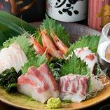 五島列島で獲れた天然地魚の刺身!!一口で分かる新鮮な旨みを堪能