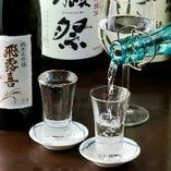 田酒、獺祭が400円。4合でも3100円。飲放題も2000円と2500円です