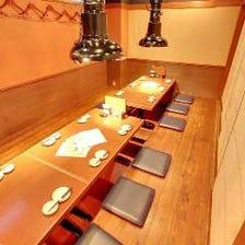 ◆居心地良い掘りごたつ席、個室!
