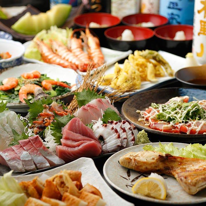 【2H飲み放題】お造りや焼き物など当店の逸品を堪能!贅沢に味わうなら『6,000円コース』(全9品)
