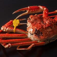 季節に合わせた蟹料理をご提供